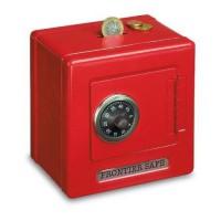 Goki Hranilnik - kovinski sef s ključavnico rdeč