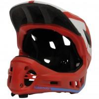 Kiddimoto S 48-52 Ikon 2v1 rdeče/modra otroška čelada