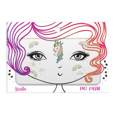 Snails tatuji za obraz unicorn