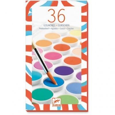 Djeco vodene barvice set 36