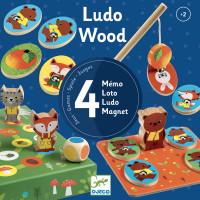 Djeco Štiri lesene igre za najmlajše