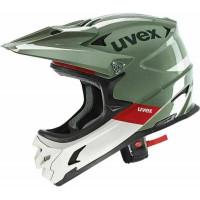 Uvex 56-58 cm fullface čelada HLMT 10 zelen/siv