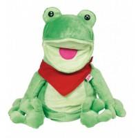 Goki Plišasta ročna lutka Žabec