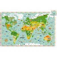 Djeco puzzle Oko svijeta, 200 kom